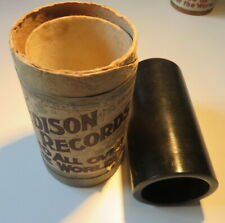 Edison Bell EARLY Gold Molded BLACK WAX Phonograph Cylinder ~ No. 2217 ~ 1898