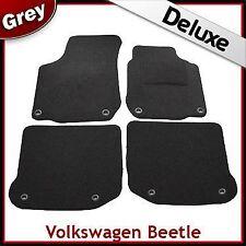 VW New Beetle 1998-2011 Oval Eyelets Tailored LUXURY 1300g Carpet Car Mats GREY