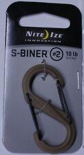 Nite Ize Coyote Tan S-Biner 2 Carabiner SBP2-03-28BG