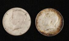 2 Kennedy Half Dollars 1964  Circulated Condition  Denver  Philadelphia   #14