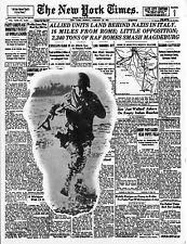 WW2 - CP italienne 1er Jour - Débarquement en Italie d'après The New York Times