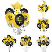 EID MUBARAK Balloons Latex Confetti Foil Balloon Set Ramadan Islamic Party Decor