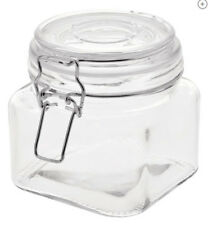 Glass Jar with Metal Clasp Lids Wire Bale Tight Seal Thick Glass 20 oz. NEW