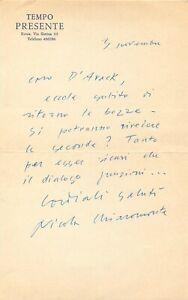 Autografo politico antifascista Nicola Chiaromonte (Rapolla, 1905 - Roma, 1972)