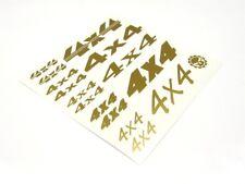 """Gear Head RC Vinyl """"4X4"""" Decal Sheet - Gold GEA7085"""