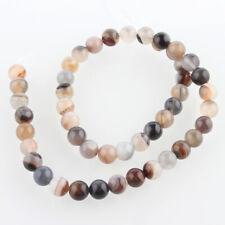 lot de 21 perles agate Botswana  8 mm  gemme naturel