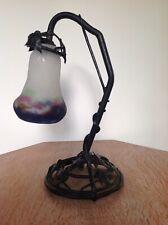 Art Nouveau Arts And Crafts Lamp Lampe -Signed Muller Fres Luneville