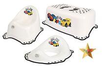 CARS vasino per infanzia 3 Set antislittamento insensata + sedile wc + Passo Sgabello Bianco