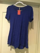 New Women's Royal Blue Tunic Top Size M
