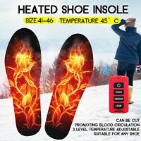 Rechargeable Winter Heated Insoles Shoe Boot Foot Warmer Electronic Heate