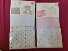 4 Moses Basket Jersey Fitted Sheets BNIP crib 100% cotton tesco