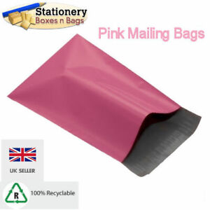 """STRONG PINK Mailing Bags 10"""" x 14"""" - 250x350mm Postal Packaging Choose QTY"""
