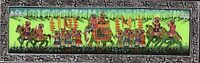Hand Painted Royal Procession Art Of Maharajah Indian Miniature Painting On Silk