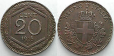 1918   Regno D'Italia  20 centesimi  esagono