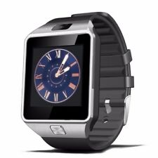 SmartWatch DZ09 Bluetooth Armbanduhr iPhone Androidt MicroSIM Kamera in schwarz