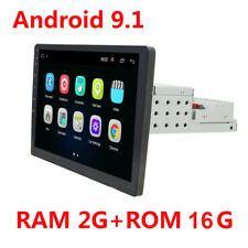 10in 2+16G Single 1DIN Car Stereo Video MP5 Bluetooth FM Radio USB Android 9.1