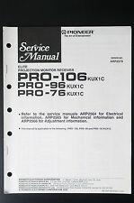 PIONEER PRO-106/96/76 Original Service-Manual/Anleitung/Schaltplan!  o18