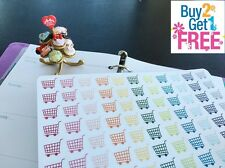 PP006 -- Little Shopping Cart Life Planner Stickers for Erin Condren (88pcs)