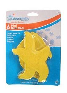 Dreambaby Yellow Fish Non-Slip Safety Suction Mats Non-Stick Applique Bath Tub