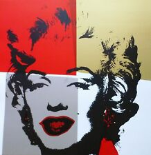 ANDY WARHOL GOLDEN MARILYN MONROE SUNDAY B.MORNING LIMITED EDITION 11.38 COA