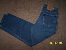 men's size 36X32 Levi's 550 relaxed fit tapered leg blue jeans/100% cotton