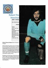 BOBBY SHINTON MANCHESTER CITY 1979-1980 ORIGINAL HAND SIGNED MAGAZINE CUTTING