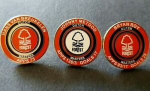 Nottingham Forest Dutch Masters🟠🔵⚪ Pin Badge Set of 3