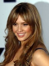 Jessica Alba Hot sale Long Atrractive Natural Light Brown Wigs Top Quality