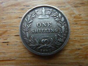 1879 British Victorian Silver Shilling (ref49)