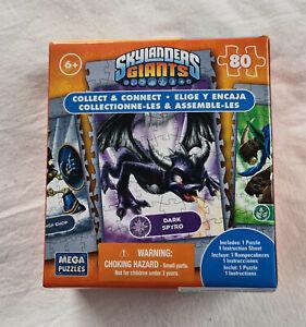 Mega Puzzles Skylanders Giants Dark Spyro 80 Piece Mini Jigsaw Puzzle New Sealed