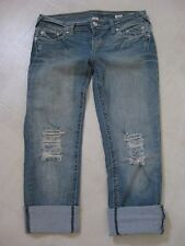 Semi-Destructed 2-in-1 Capri Convertible to Straight Leg Jeans by YNQ / 5 /BNWOT