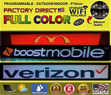 "Full color Indoor/Outdoor scrolling text image LED sign RGB 6.5"" x 25"" -USA"