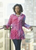 Ashro Pink Purple Black Multi Maia Fashion Tunic Top Blouse 6 8 10 12 14 16W 18W
