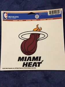 """Miami Heat Official NBA 4.5"""" x 6"""" Car Window Cling Decal Heat by Wincraft 220394"""