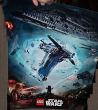 LEGO STAR WARS 6 X 12 TOYS R US B-WING POSTER FEAT. CHEWBACCA & STAR DESTROYER