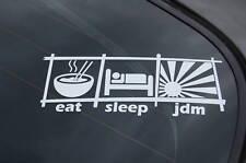 EAT SLEEP JDM V2 Sticker Decal Vinyl JDM Euro Drift Lowered illest Fatlace