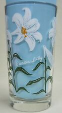 Easter Lily Peanut Butter Glass Glasses Drinking Kitchen Mauzy 57-1