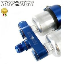 Twin bosch 044 pompe à essence en aluminium billet collecteur d'admission montage en bleu