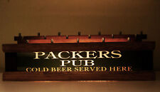 "Lighted Beer Tap handle base Holds 18 * Lighted Bar Open Sign "" Packers Pub """