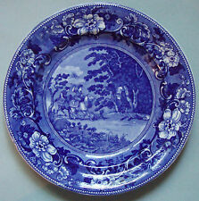"""1900 STAFFORDSHIRE DOCTOR SYNTAX PLATE,""""BOUND TO TREE BY HIGHWAYMEN"""" LG 10 1/2"""""""