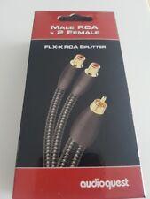 AUDIOQUEST MALE RCA 2  FEMALE  M22F-FLX-X RCA SPLITTER SDOPPIATORE RCA NUOVO