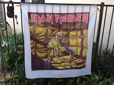 vintage 1983 IRON MAIDEN PIECE OF MIND Satin Banner EDDIE Poster ORIGINAL rare