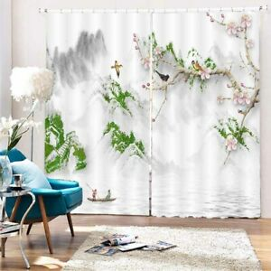 Dense Forest Pawn Line 3D Curtain Blockout Photo Printing Curtains Drape Fabric