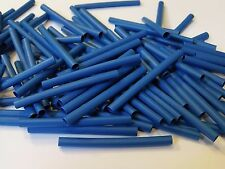 30 x 3.2 blue heatshrink 50mm long polyolefin heat shrink tube pack of 30