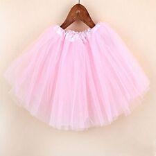 Kid Girls Dancewear Party Costume Multicolor Tulle Tutu Skirt Princess Dressup