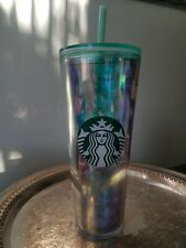 New Starbucks 2019 Mermaid Iridescent Shimmer Tumbler Cup 24oz Venti Straw