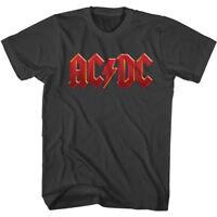 ACDC Vintage Red Logo Men's T Shirt Metal Rock Band Album Concert Tour Merch Top