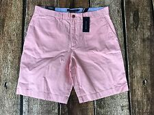 Tommy Hilfiger Core Classic-Fit Flat Front Shorts Cotton Candy Mens Size 38 New