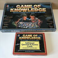Game Of Knowledge + Additional Question Cards Expansion Pack Vintage Board Game
