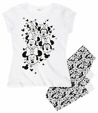 Minnie Mouse Damen Schlafanzug weiß Gr. L 42 44 Teenager 176